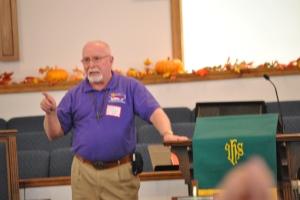 Dr. Edens address the gathering.