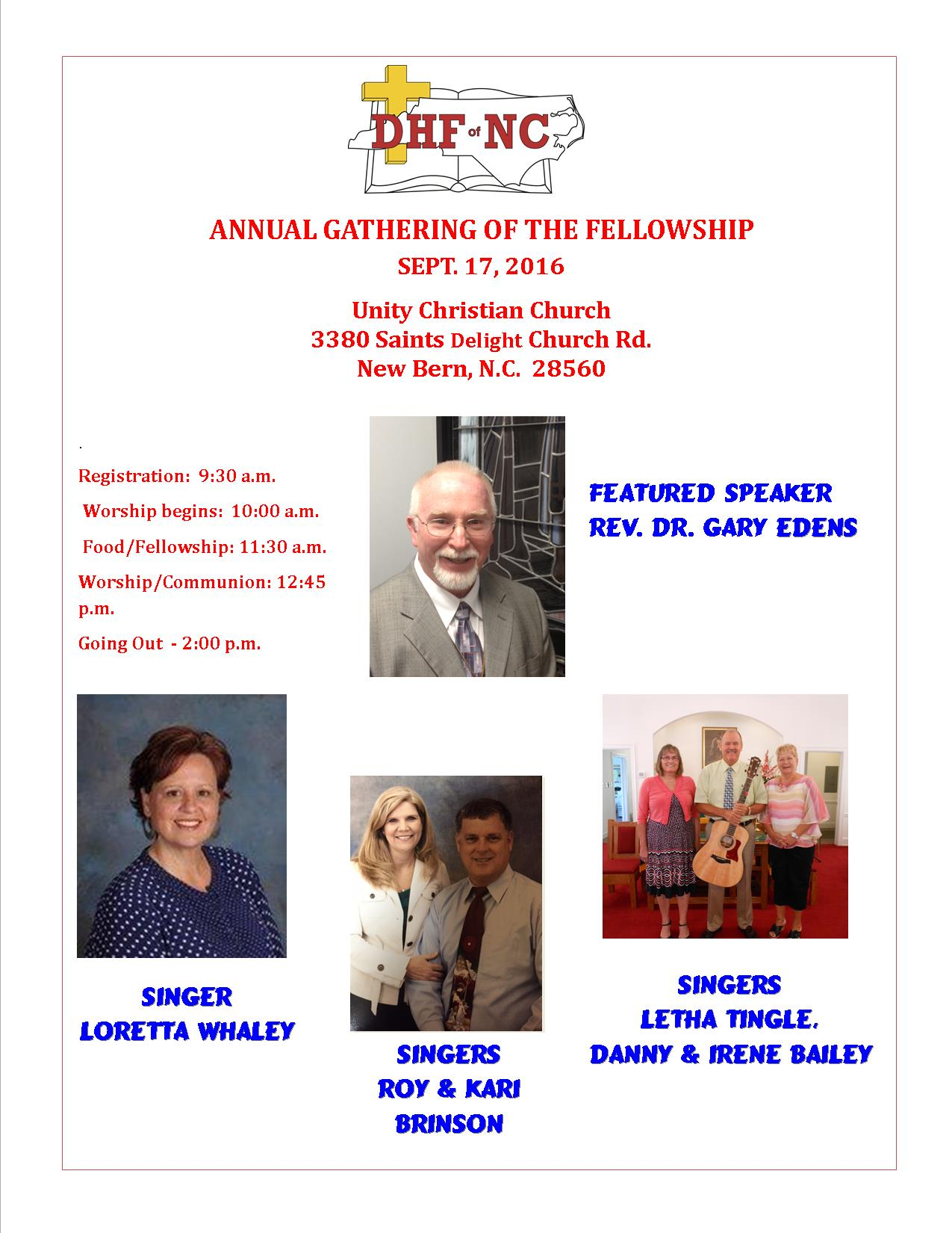 DHF of NC Gathering 9-17-2016 - Unity CC Poster 2