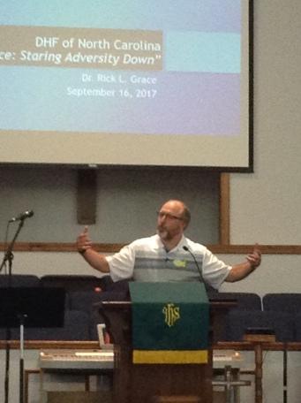 Guest minister, Rev. Rick Grace