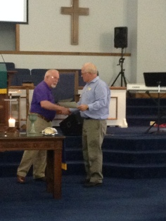 Rev. Roger Noble receives DHF of NC certificate of membership